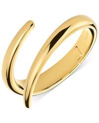 Calvin Klein | Metallic Embrace Bypass Hinge Medium Bangle Bracelet | Lyst