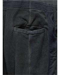 Haider Ackermann - Gray Mixed Media Jogging Pants for Men - Lyst
