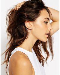 ASOS Metallic Mini Leaf Link Ear Cuff