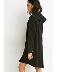 Forever 21 Black Buttoned Wrap Cocoon Jacket