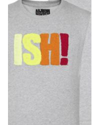 Amishboyish | Gray Ish Cotton Grey Sweatshirt | Lyst