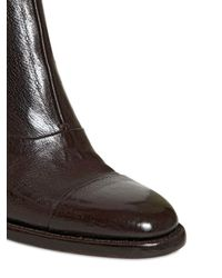 Alberto Fasciani Brown 60mm Buffalo Leather Ankle Boots