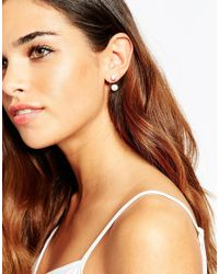 ASOS - White Bead Swing Earrings - Lyst