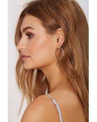 Nasty Gal Metallic Jenny Bird 18K Gold Shakti Serpent Hoop Earrings