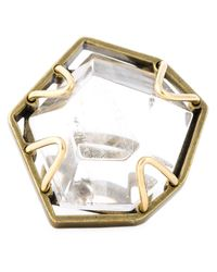 Lanvin | Metallic Oversized Ring | Lyst