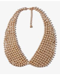 Forever 21 Natural Pearlescent Peter Pan Collar Necklace