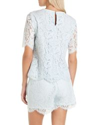 Ted Baker | Blue Allina Scalloped Edge Lace Top | Lyst