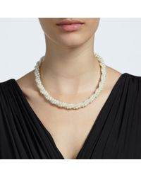 John Lewis White Twisted Faux Pearl Necklace
