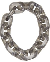 Stella McCartney | Metallic Smoke Grey Plastic Chain Necklace | Lyst
