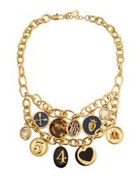 Tory Burch | Yellow Delora Shiny Charm Necklace | Lyst