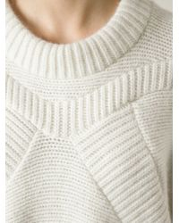 Henrik Vibskov White 'knit Rider' Oversized Sweater