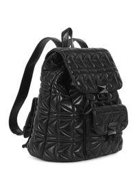 Karl Lagerfeld K/Kuilted Black Leather Backpack