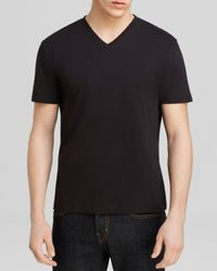 Michael Kors | Black Liquid Jersey V-neck Tee for Men | Lyst
