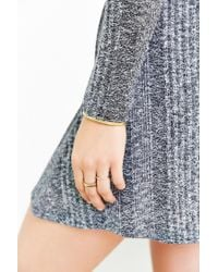 BDG Gray Camp Sweater Dress