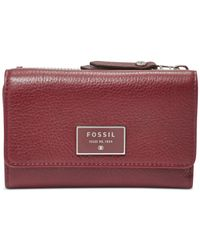 Fossil | Purple Dawson Leather Multifunction Indexer | Lyst