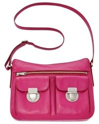 Fossil - Pink Riley Leather Hobo - Lyst