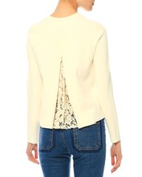 Valentino - White Long-sleeve Lace-back Top - Lyst