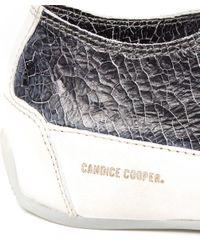 Candice Cooper Black Rock Cracked Metallic Trainers