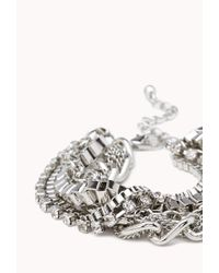 Forever 21 - Metallic Dazzling Multichain Bracelet - Lyst