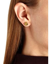 Marc By Marc Jacobs - Metallic Logo Disc-o Gold Tone Stud Earrings - Lyst
