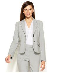Calvin Klein - White Two-Button Houndstooth Jacket - Lyst