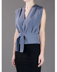 Balenciaga Gray Wrap Top