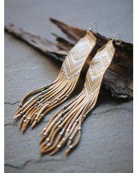 Free People | Metallic Earth Ceremony Earrings | Lyst