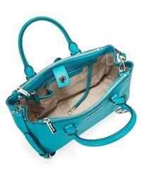 MICHAEL Michael Kors   Blue Sutton Leather Satchel Bag   Lyst