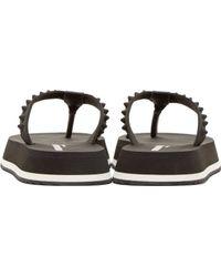 DSquared² - Black Studded Sandals for Men - Lyst