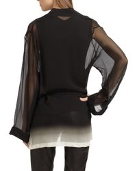 Ann Demeulemeester - Black Silk Wrap Blouse - Lyst