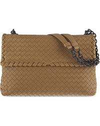 f423b6d0184 Bottega Veneta. Natural Olimpia Intrecciato Large Leather Over The Shoulder  Handbag ...