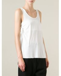 MM6 by Maison Martin Margiela - White Tie Detail Tank Top - Lyst