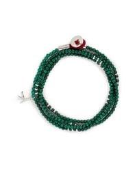 Isaia Green 'saracino' Bead Wrap Bracelet