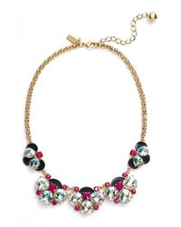 Kate Spade | Blue 'fame And Flowers' Bib Necklace - Navy Multi | Lyst