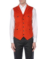 People Orange Waistcoat for men