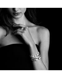 David Yurman - Metallic Labyrinth Singleloop Ring with Diamonds - Lyst