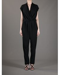 Lanvin Black Draped Jumpsuit
