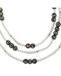 Venessa Arizaga - Black Women's Say What? Necklace - Lyst