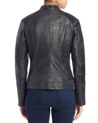 7 For All Mankind Gray Moto Leather Jacket