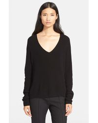 A.L.C. | Black 'rhodes' V-neck Sweater | Lyst