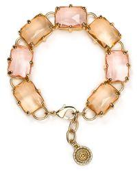 Aqua Natural Dottie Rectangular Stone Bracelet