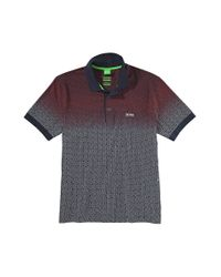 """BOSS Green Blue Regular Fit Polo Shirt """"Paddy 5"""" In Cotton for men"""