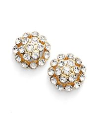 Anne Klein | Metallic Crystal Cluster Stud Earrings | Lyst