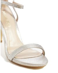 Miss Kg Metallic Emelie Silver Heeled Sandals