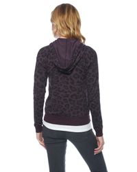 Splendid Purple Distressed Leopard Hoodie