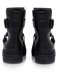Marni Black Laceguard Flatform Leather Military Boots