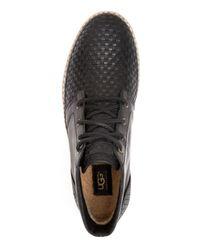 UGG | Black Australia Alin Woven Chukka Sneaker Boots for Men | Lyst