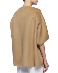 Michael Kors - Natural Open-Front Boxy Coat - Lyst