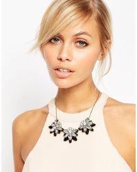 ASOS - Metallic Rhinestone Necklace - Lyst