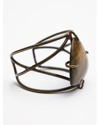 Free People - Green Womens Claw Stone Cuff - Lyst